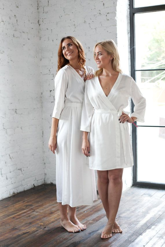 Treat yourself - these ivory dressing gowns are absolutely gorgeous! These  elegant milky white robes can also be used as bridal robes 926379084