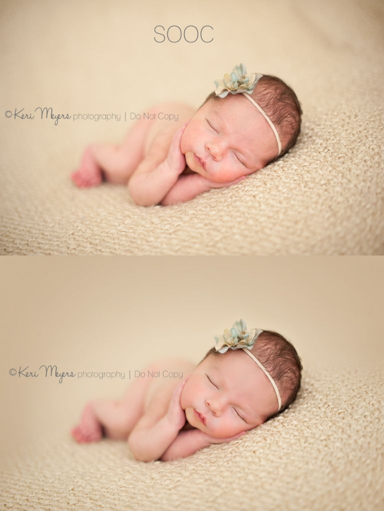 Keri Meyers workflow. Focusing on effectively editing newborn pictures.