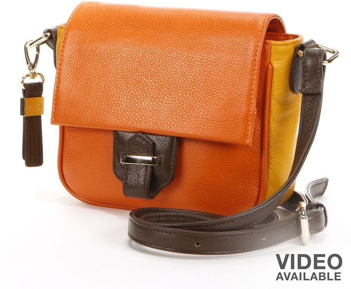 $198, Orange Leather Crossbody Bag: B Collective By Buxton Hailey Leather Colorblock Crossbody Bag. Sold by Kohl's. Click for more info: https://lookastic.com/women/shop_items/50475/redirect