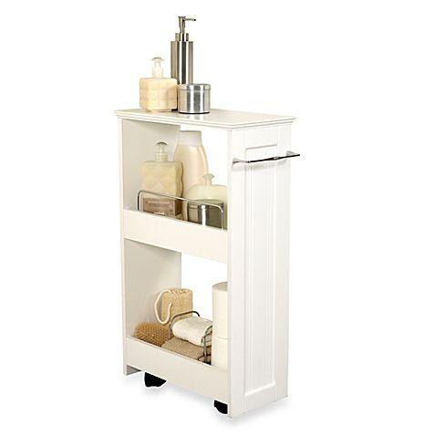 Zenna Home Rolling Storage Bath Shelves In White Small Bathroom