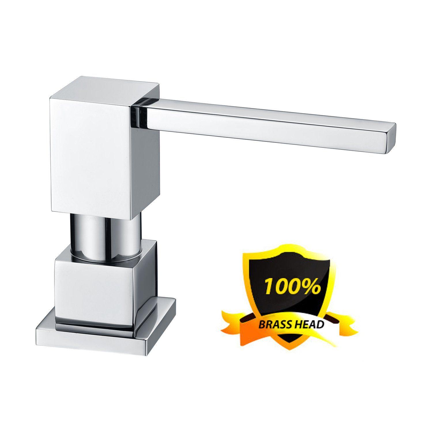 LAZADA Modern Chrome Built in Pump Kitchen Sink Dish Soap