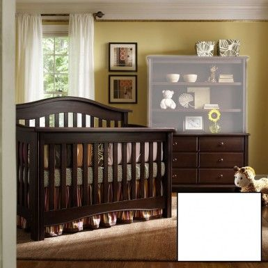 Bonavita Hudson 2 Piece Nursery Set In White Crib And Double