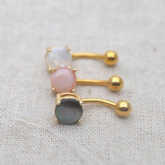 Belly Button Rings Natural Shell Navel Ring 14k Gold Belly Ring Gift