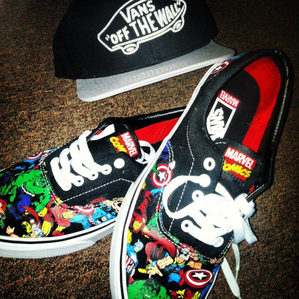 zapatos vans comics
