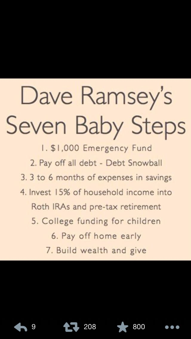Dave Ramsey\'s 7 Baby Steps