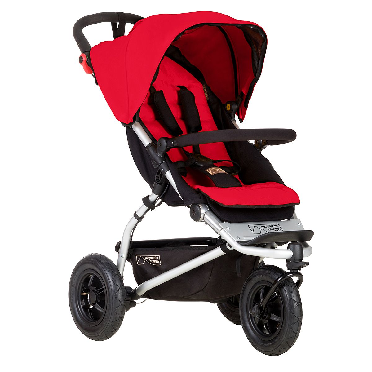 Mountain Buggy lightweight swift stroller in berry (With
