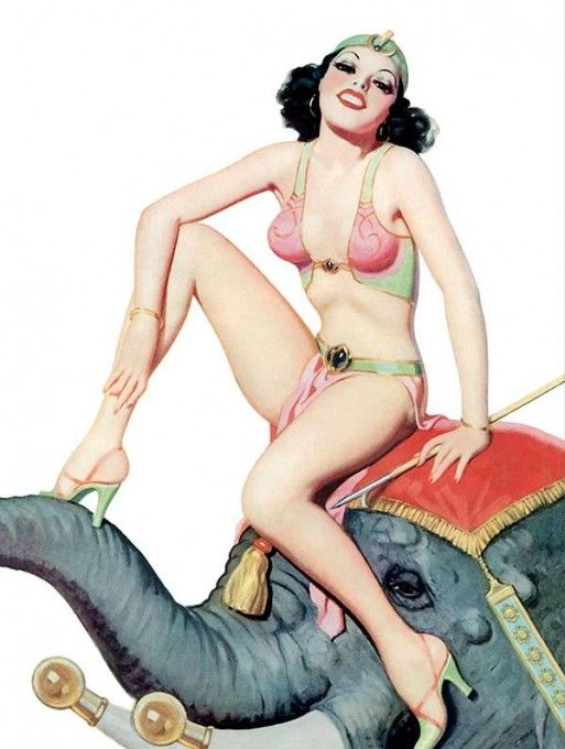 Enoc Bolles | Playful girls | Pin-Up artist vintage