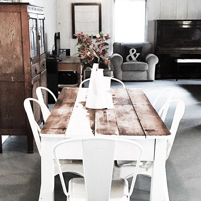 Still loving our painted concrete floor!  It's been a couple of weeks and it's held up beautifully . Long weekend here and it's already filled with family, baking and knitting in front of the fire!  Happy weekend xx