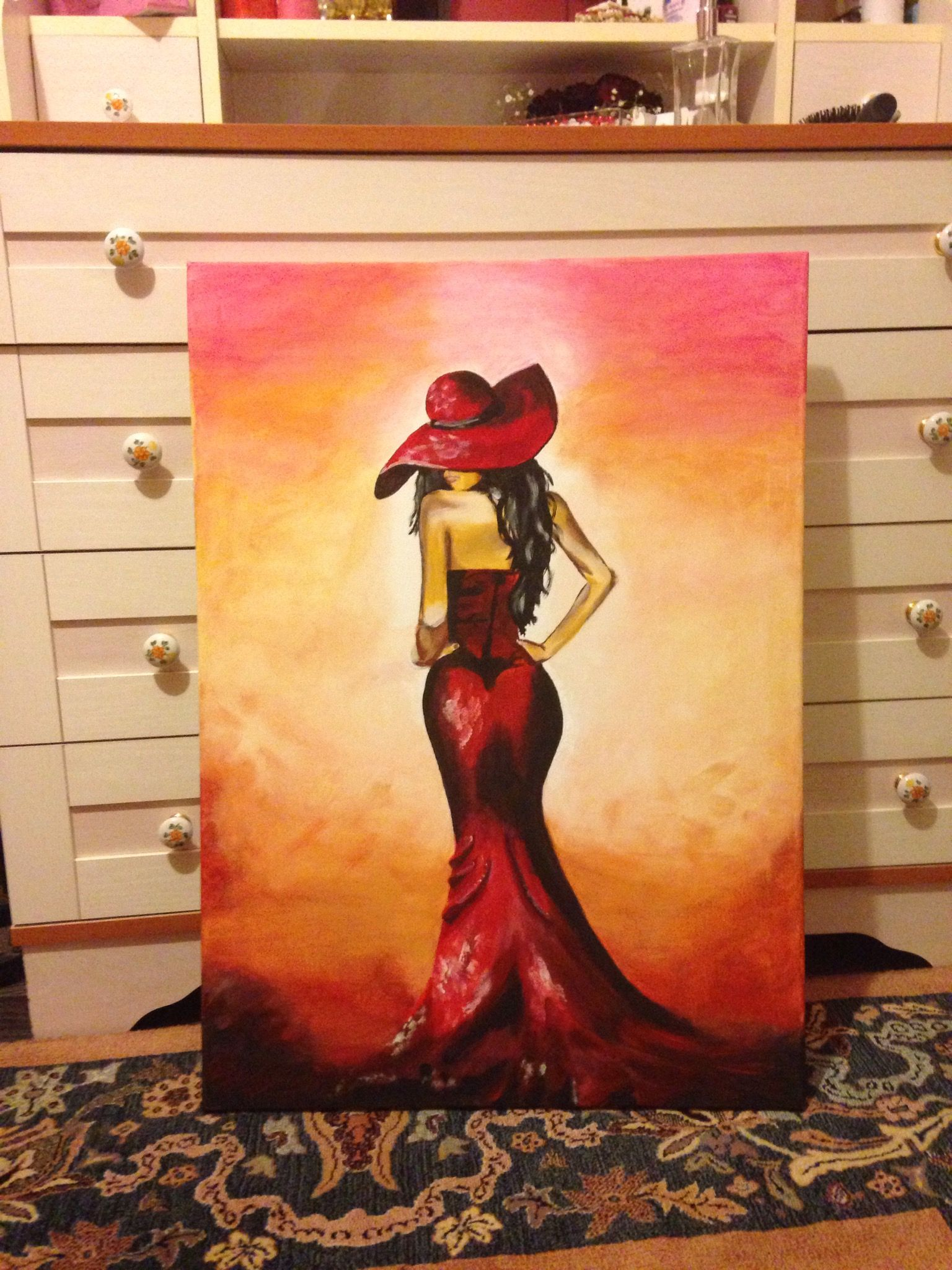 cuadro mujer sombrero negro oleo - Buscar con Google  fffee46c931