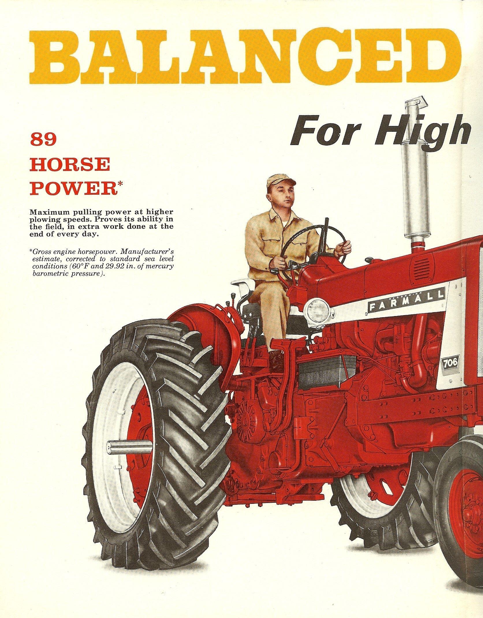 1963 Farmall 706 Farmall International Tractors Farmall Tractors