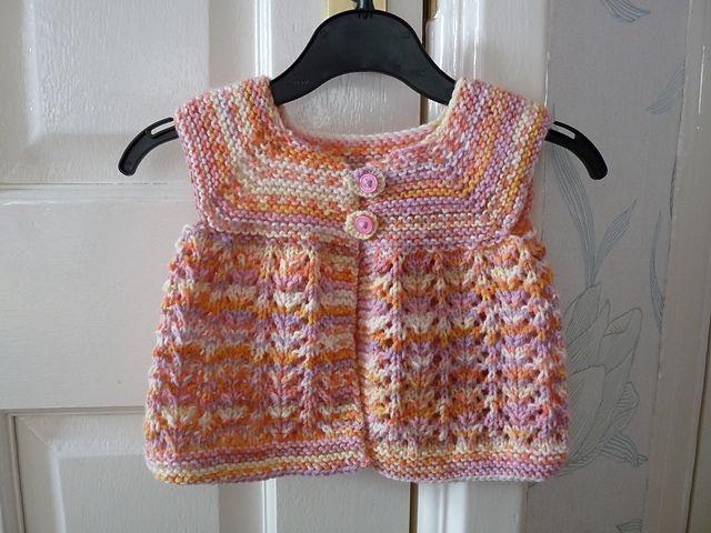 Little Dress in Sirdar Crofter Baby Fair Isle Effect DK | Crochet ...