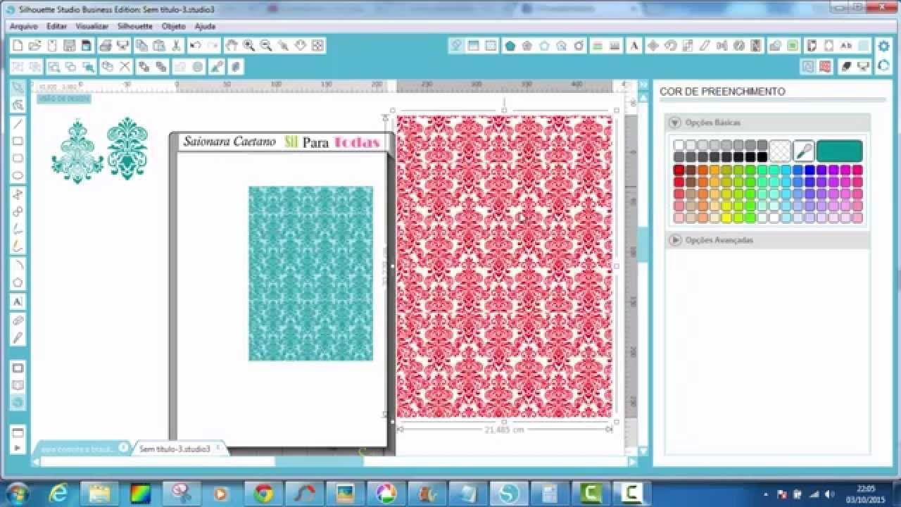 Studio V3- Tutorial criando seu papel digital a partir de uma estampa