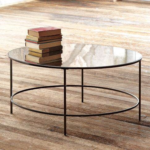 Distressed Mirrored Coffee Table