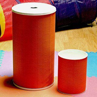 1530 LaMont Home Brights Tangerine Round Hamper and Wastebasket Set | Overstock.com