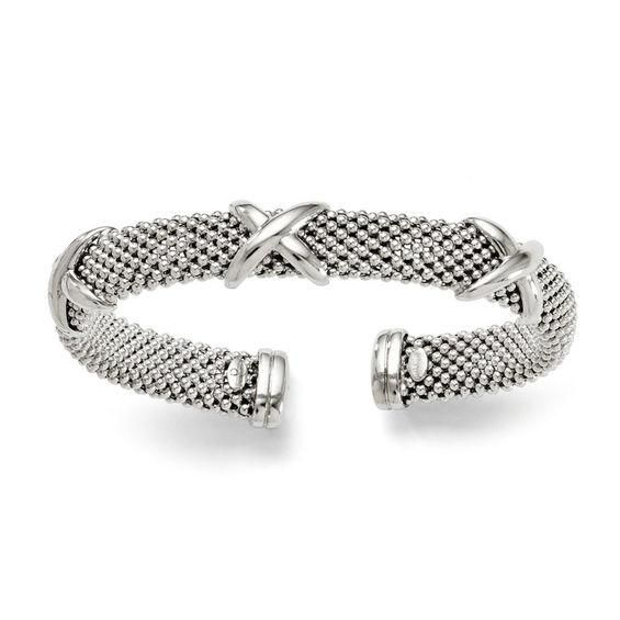 Zales 4.0mm Woven Bangle in Sterling Silver mX689