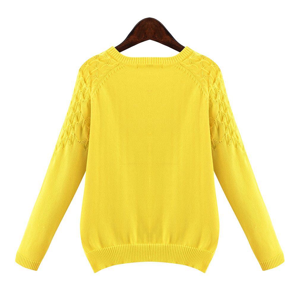 Estilo coreano del envío 2015 mujeres de o cuello de la manga completa asimétricas suéteres nueva moda de color sólido suéter de gran tamaño 5XL en Jerseys de Moda y Complementos Mujer en AliExpress.com   Alibaba Group