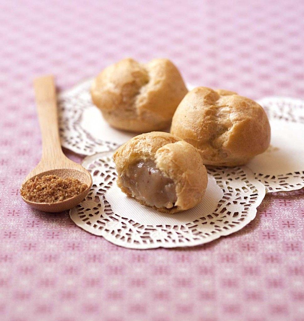 Petits choux à la crème praliné (sans lactose) - les meilleures recettes de cuisine d'Ôdélices