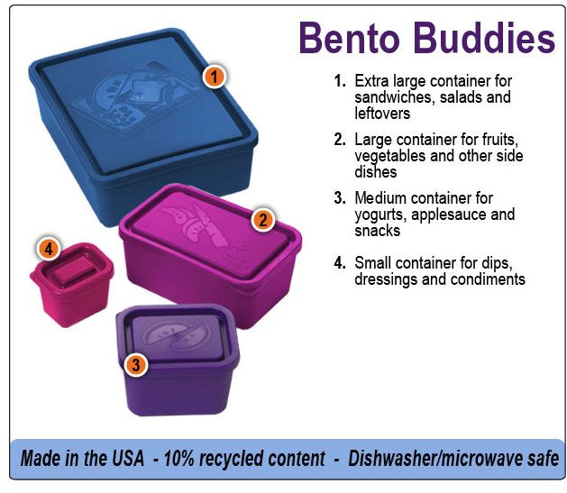Get the most out of our Bento Buddies Sets.