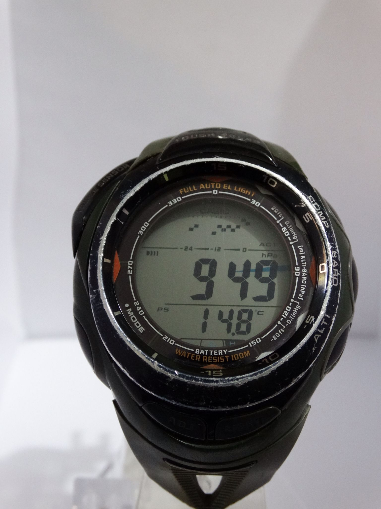 42047bd08 CASIO PRG-90 TRIPLE SENSOR - PROTREK ALTI-BAROMETER/THERMOMETER/COMPASS  TOUGH