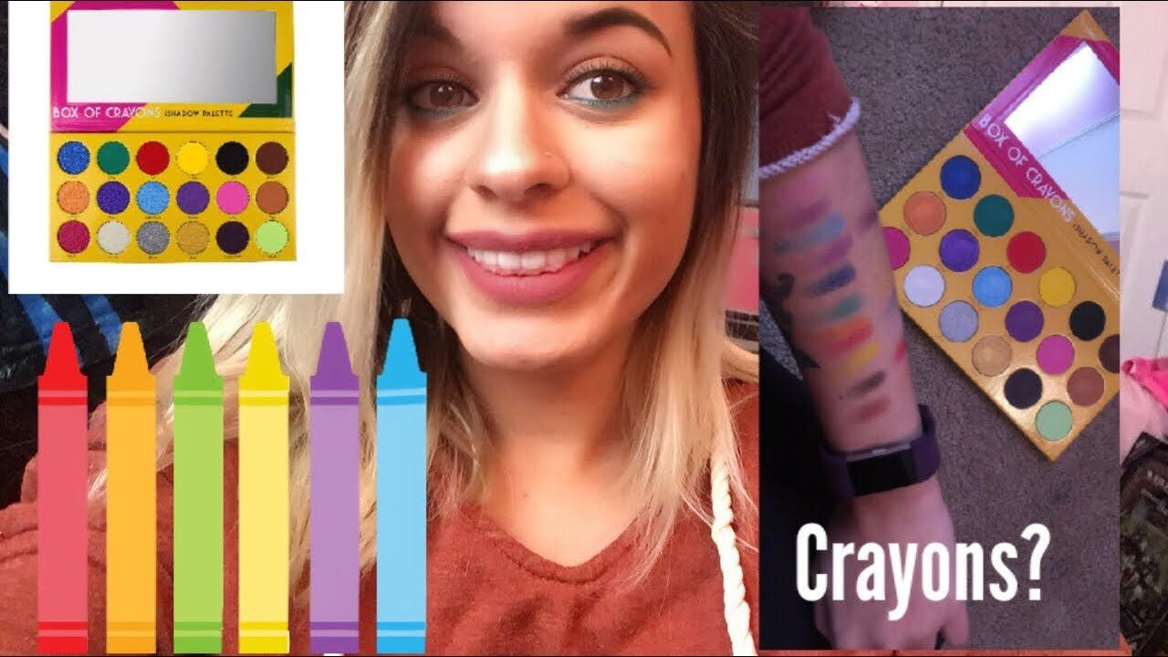 Box Of Crayons Eyeshadow Palette Review Pageant hair and