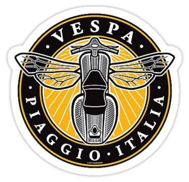 PIAGGIO vespa classic sticker x 2