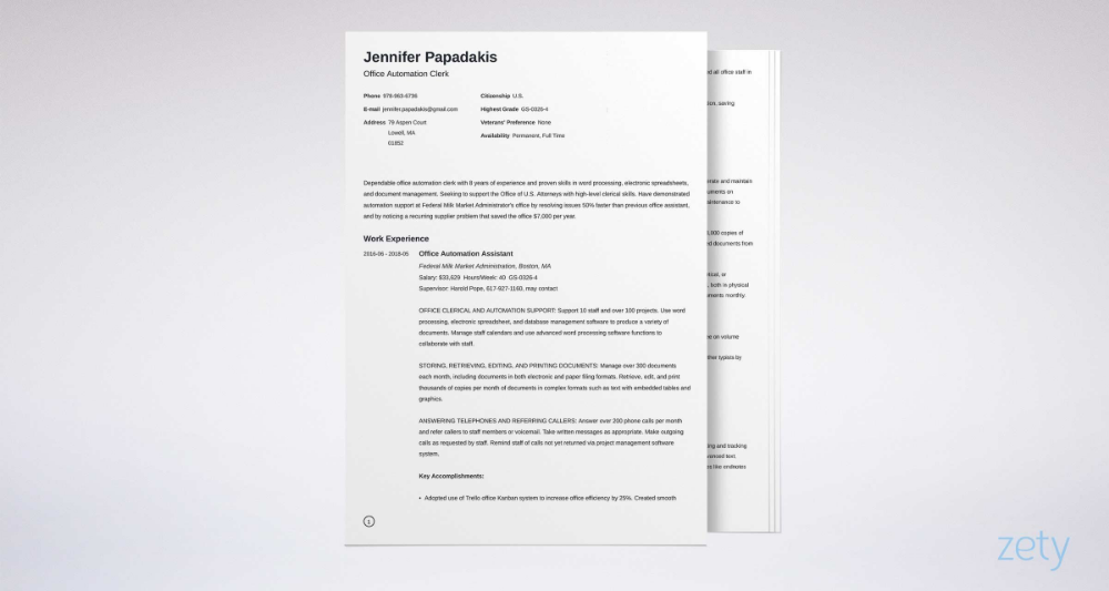 Federal Resume Template & Writing Guide [20+ Examples] in