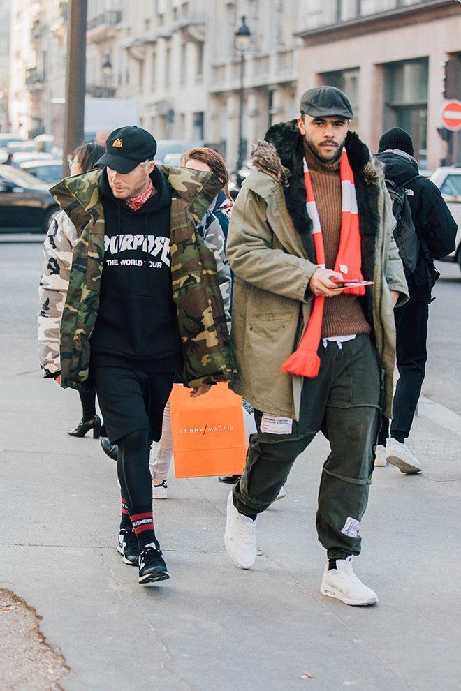 Street style à la Fashion Week homme automne-hiver 2017-2018 de