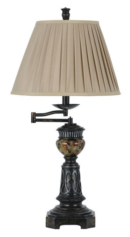 View the Cal Lighting BO-2299TB Aberdeen 1 Light Swing Arm Table Lamp with 3-Way Switch at LightingDirect.com.
