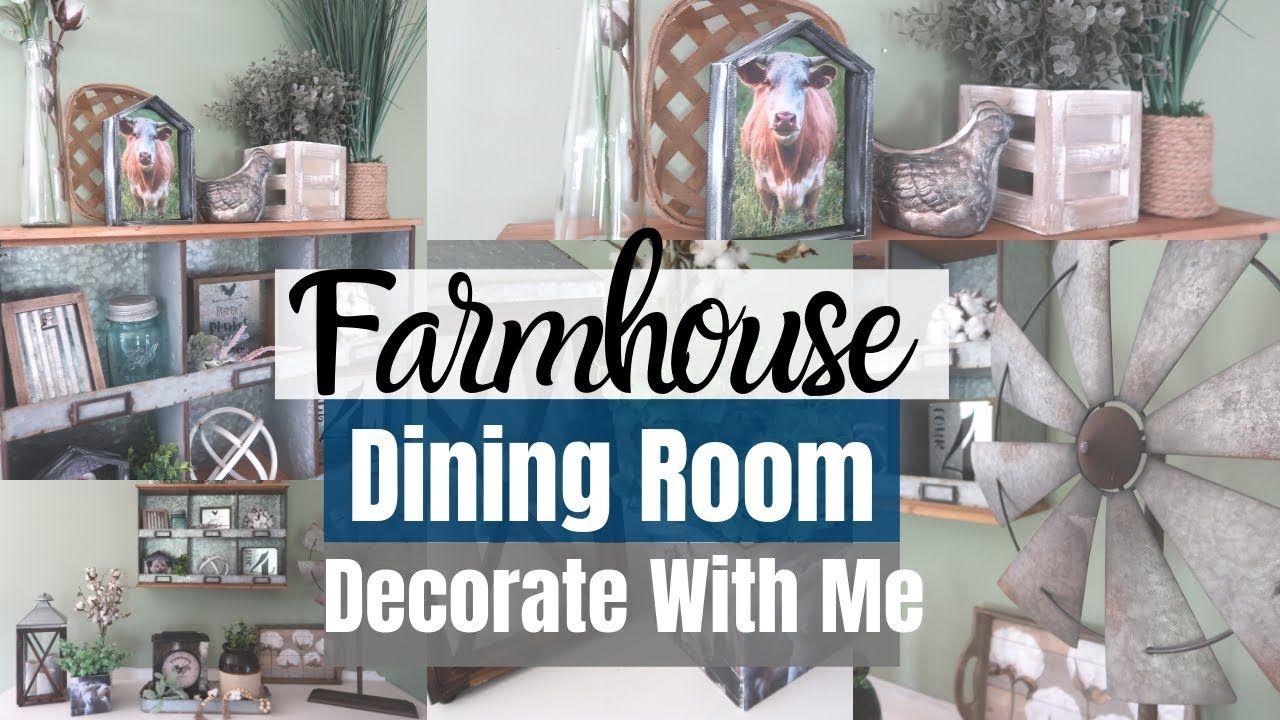 Farmhouse decorate with me farmhouse dining room hobby