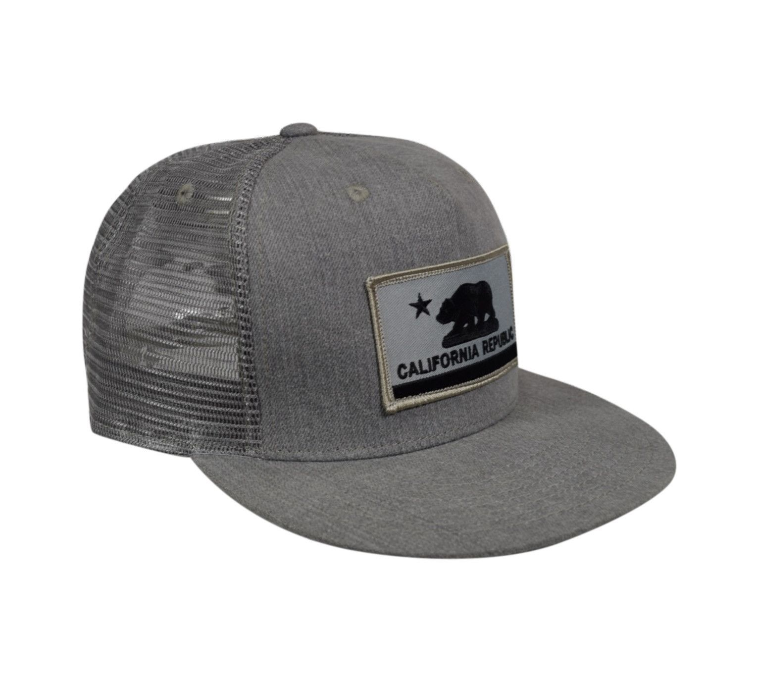 e3d2740fe4f California Republic Flag Trucker Hat by LET S BE IRIE - Gray Denim ...