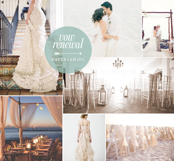 Church Wedding Decorations Ideas For Your Wedding In Italy: Leslie Vega Vow Renewal Color Palette, Beach Wedding