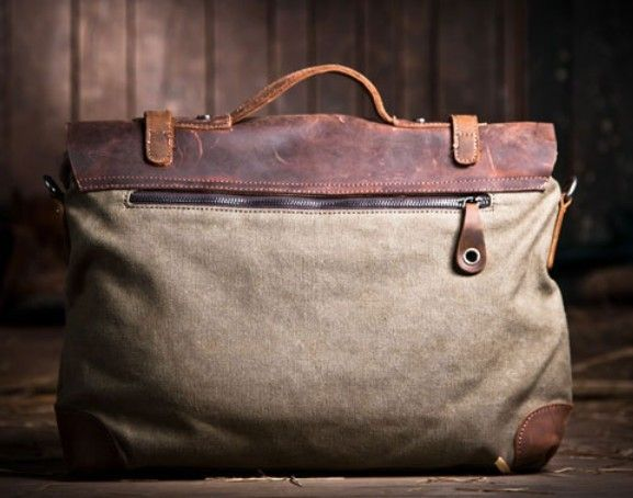 Billedresultat for canvas leather bag | Tasker bags leather ...