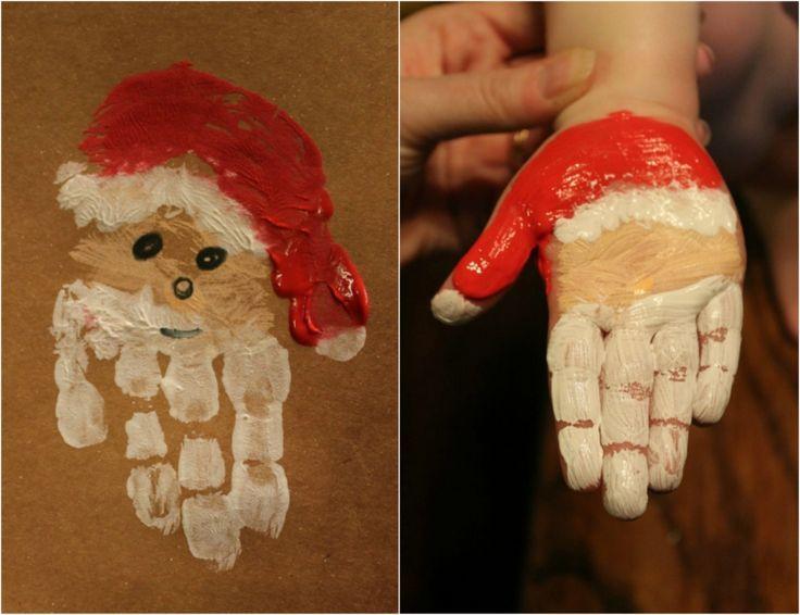 Weihnachtsmann basteln mit Kindern: 13 kreative Ideen mit hohem Spaßfaktor - #basteln #forchristmas #hohem #Ideen #Kindern #Kreative #mit #Spaßfaktor #Weihnachtsmann #handabdruckweihnachten