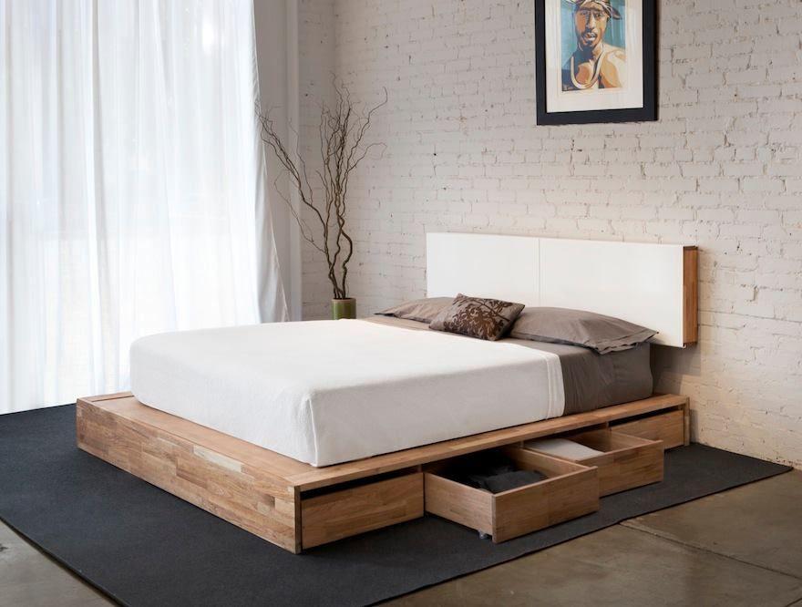 cama con cajones Cama Pinterest Cama con cajones, Camas y Recamara - recamaras de madera modernas