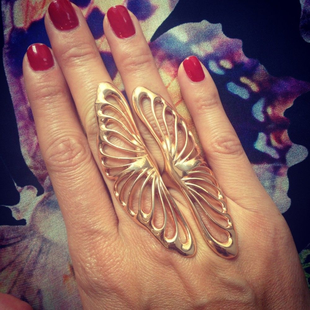 Rose Angel Wing Ring - Greek Riches - Collections | Callixto
