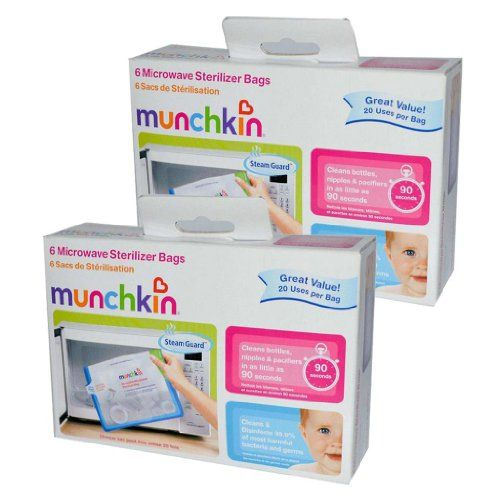 Munchkin Steam Guard Microwave Sterilizer Bags, 12 Pack - http://babymart.org/product/munchkin-steam-guard-microwave-sterilizer-bags-12-pack/