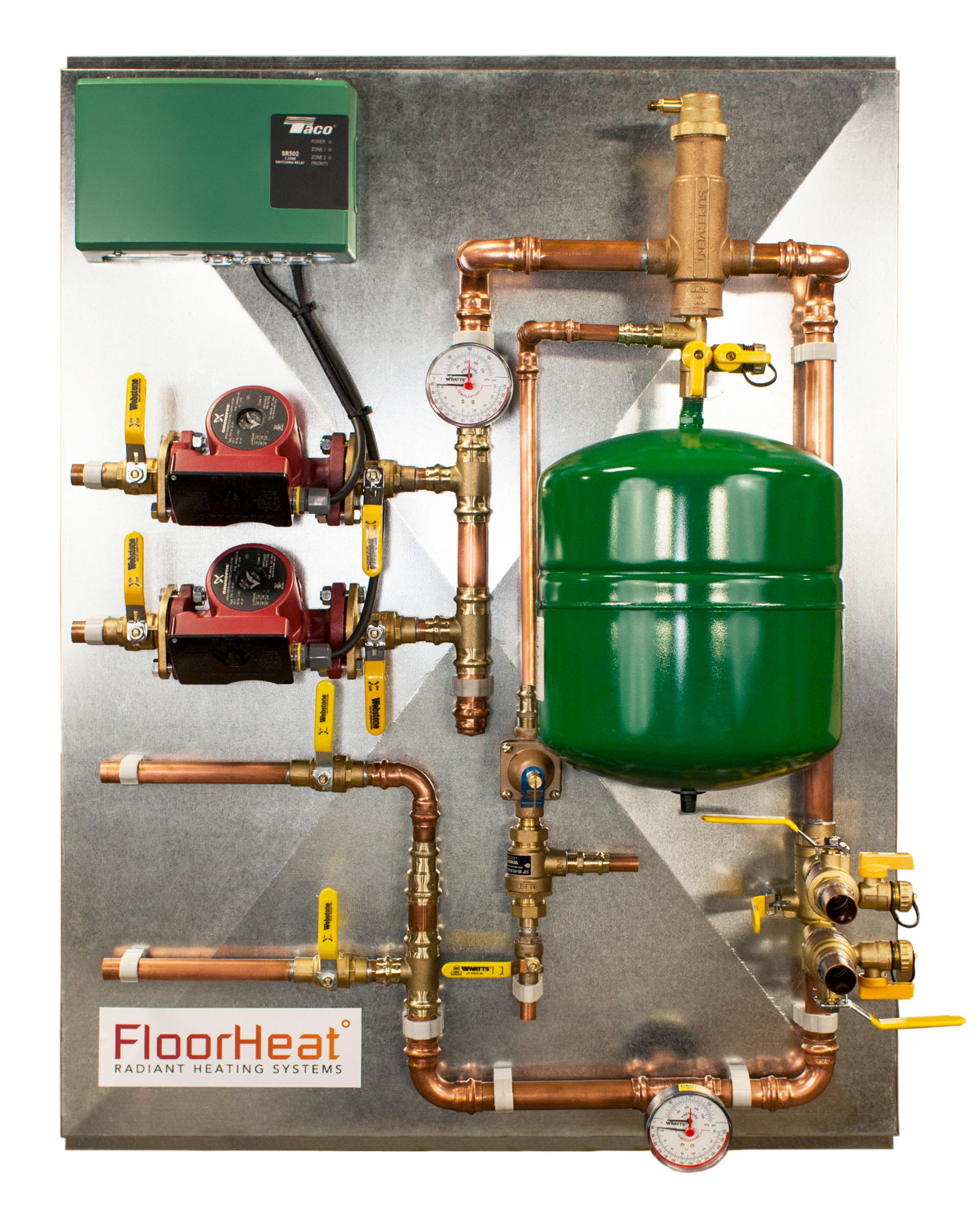2Zone Preassembled Radiant Heat Distribution/Control