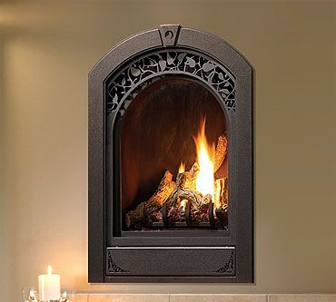nice shape small gas fireplace insert. direct vent almost zero ...