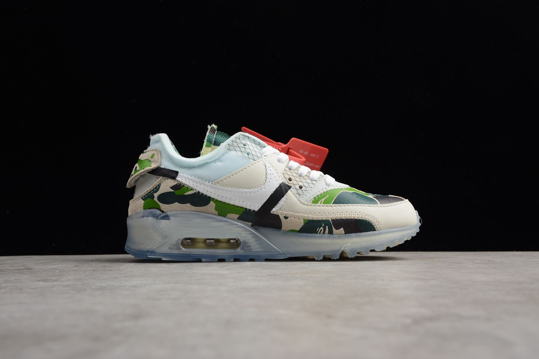 Latest Off White x Nike Air Max 90 Camo Sail White-Muslin Men s and Women s  Size AA7293-101 9756c6003