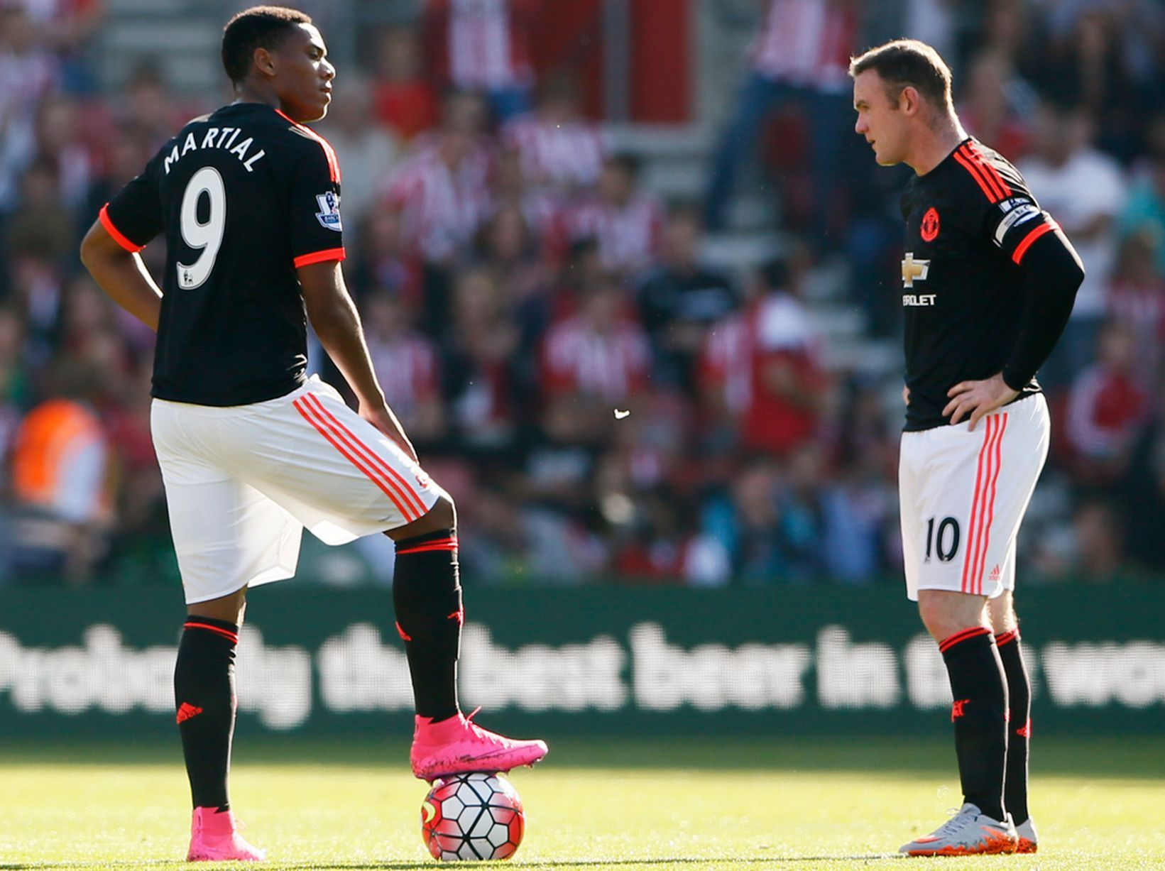 Image result for Wayne Rooney with Anthony Martial