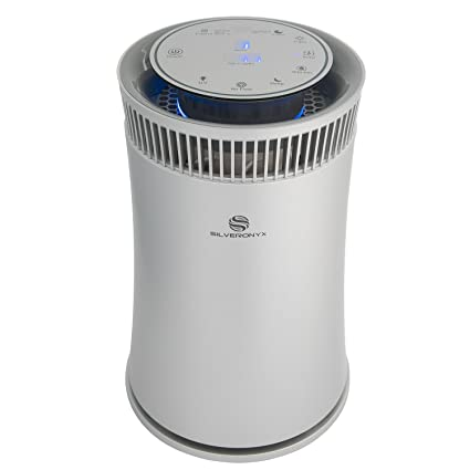 Amazon Com Silveronyx Air Purifier For Home Large Room With True Hepa Filter Air Quality Monitor Uvc Sanitizer In 2020 Air Purifier Air Quality Monitor Hepa Filter