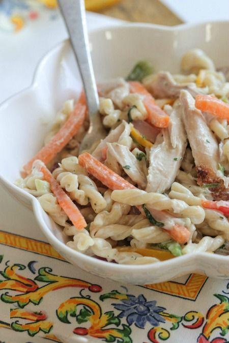 Creamy Chicken Fajita Pasta Chicken Recipes Pinterest Pasta