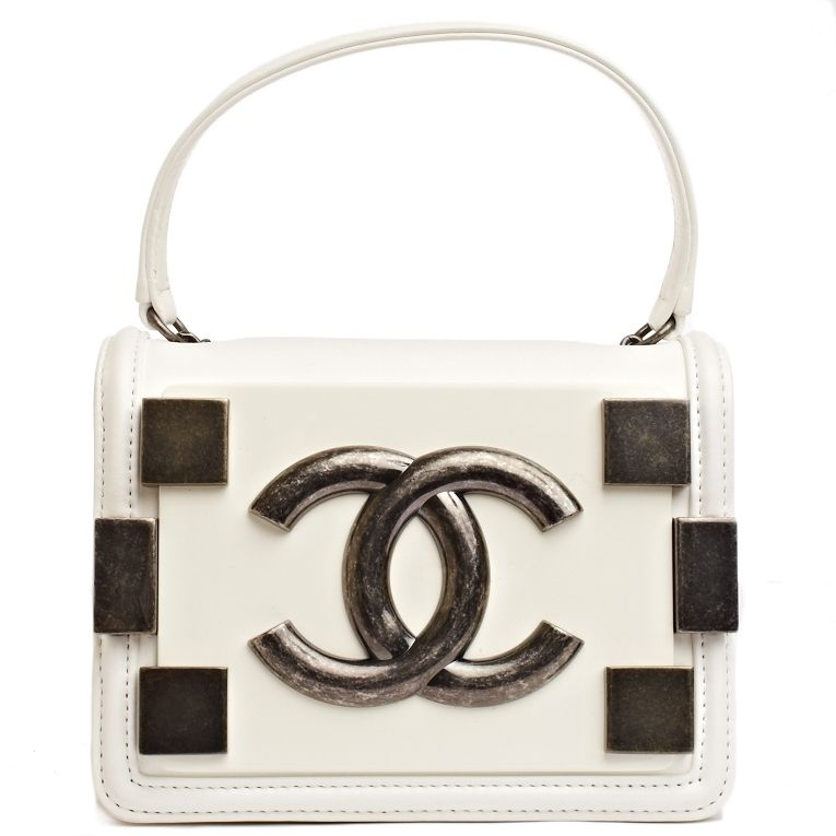 acd4b06adefd Chanel White Leather Boy Brick Bag - Never Carried