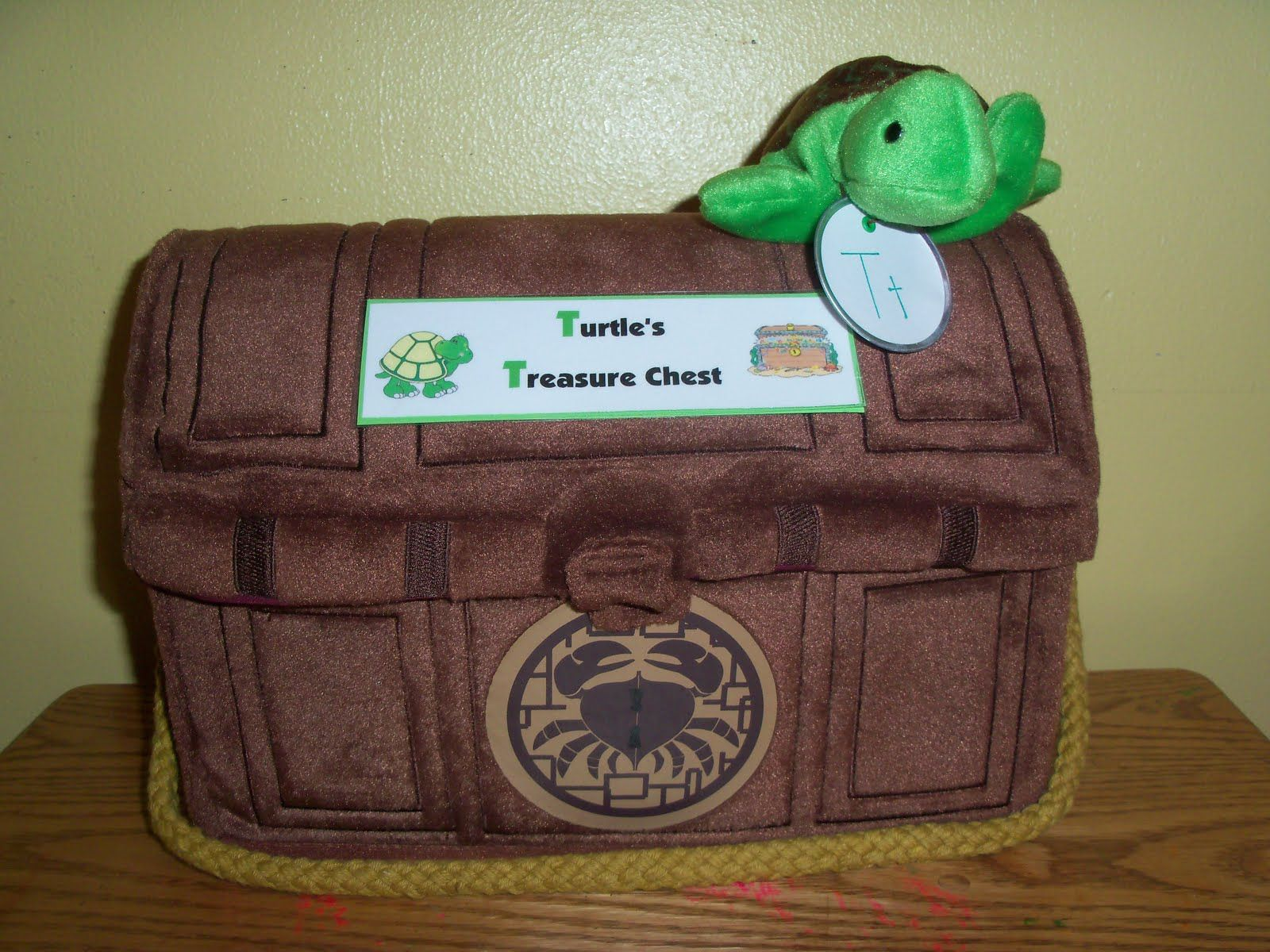 Letter T Turtle S Treasure Chest