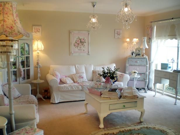 Pics Of Shabby Chic Bedrooms | Charming Shabby Chic Living Room Designs :  Rooms : Home