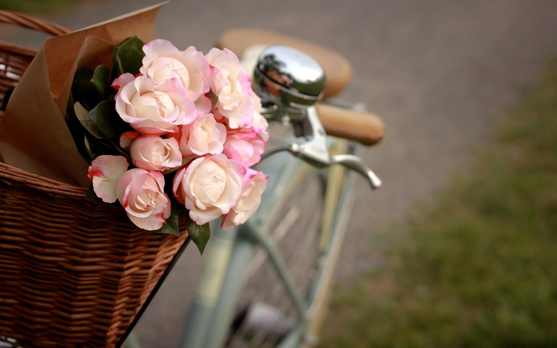 May All Your Wishes Come True Vintage Flowers Wallpaper Bike With Flowers Flower Wallpaper Hd