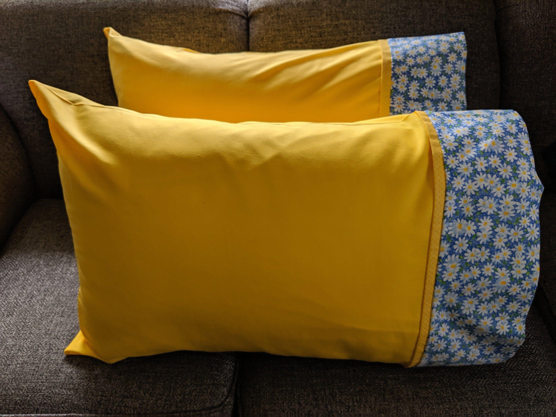 Daisy pillowcase flower pillowcase spring pillowcase bue