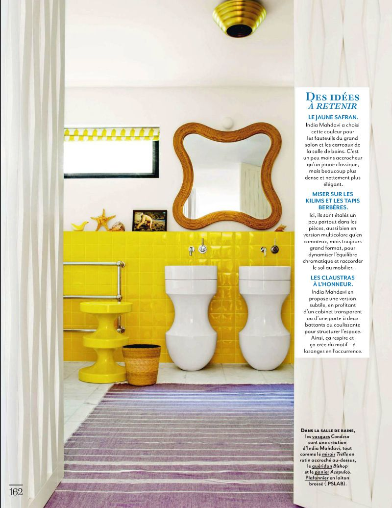 Eclectic Style bathroom with Lemon Yellow walls from Architectural ...