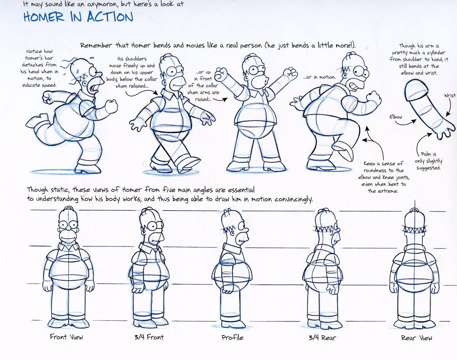 165 166 Weekend Homework Character Model Sheet Simpsons Drawings Character Modeling