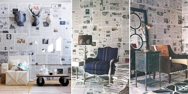 Wallpaper for your walls made from Newspapers | My desired home